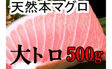 fi043 天然本マグロの大トロ500g程度 寄付額18,000円
