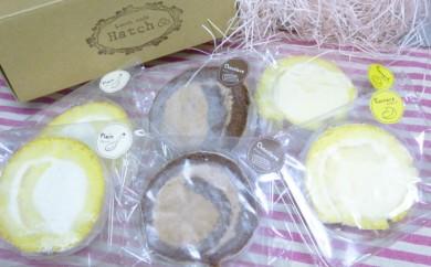 [№5891-0094]豊頃産卵使用 ふわふわロールケーキ3種セット