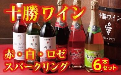 B01-3 「十勝ワイン」 赤・白・ロゼ・スパークリング6本セット