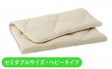 [№5849-0037]IWATAキャメル敷き布団(セミダブルサイズ・ヘビータイプ)