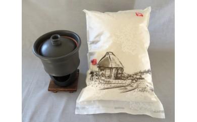 Z-7 笠間焼(竈めし)&笠間のおいしいお米セット