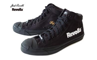 5-020 コンバースジャックパーセルミッド(ブラックモノクローム)×Revolla