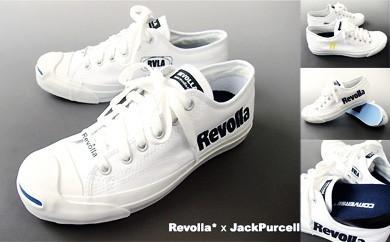 5-015 コンバースジャックパーセル(ホワイト)×Revolla