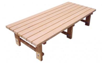[№5766-0025]丸善木材のホクモクエクステリア『ウッドデッキ』1台(サイズ調整)