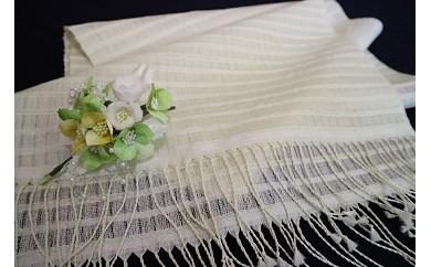 天蚕ハイブリッドショール(大判)と花のブローチセット