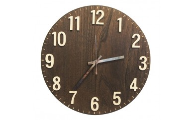 [№5665-0129]木製壁掛け電波時計