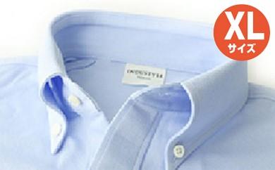 [№5630-0260]「すみだモダン」丸和繊維工業INDUSTYLE TOKYO動体裁断シャツサックス(XL)