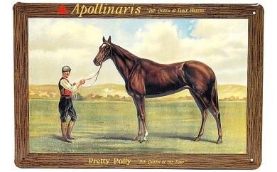 L060 馬のメタルポスター Apollinarisアポロナリス【125pt】