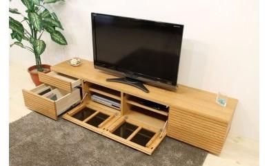 BN125 風雅 Type2 テレビボード テレビ台 W2000 ブラックチェリー スリット【700,000pt】