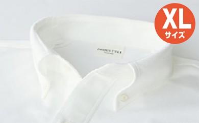 [№5630-0256]「すみだモダン」丸和繊維工業INDUSTYLE TOKYO動体裁断シャツホワイト(XL)