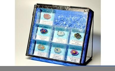 「海の宝石箱」ガラスのウミウシセット