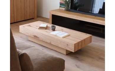 BG70 CHOCOLAT Living Table 119 oak (wood top)【418,750pt】
