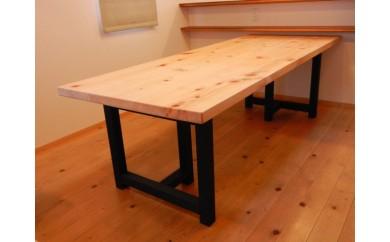 東濃ひのきのダイニングテーブル(2WAY)