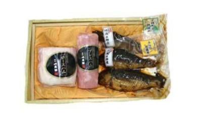 B-10 養老町特産の手造りハム・ふなの甘露煮等の詰め合わせセット