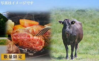 B-038 浜益牛(黒毛和牛)ステーキ用【もも・ランプ】