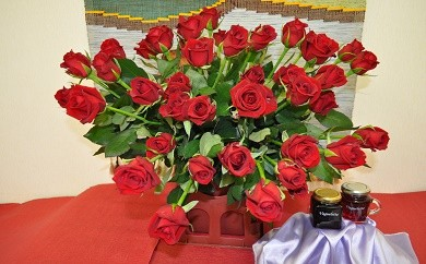 29-5-5.薔薇の花50本、薔薇ジャム、薔薇シロップ