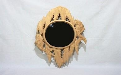 100-004 吊鏡(鯉の滝登り)