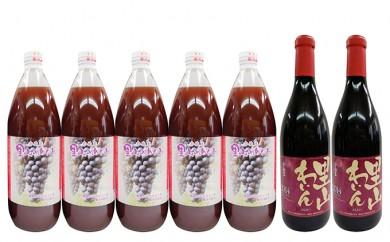 [№5840-1213]16.輝き(赤)ぶどうジュースのセット
