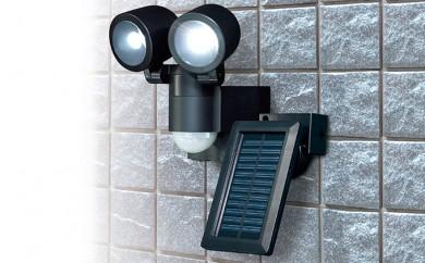[№5840-1291]【ソーラー充電&防雨】LEDセンサーライト2灯 ESL-N102SL(BK)