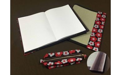 イ草が香る!ノートカバー、ファイルカバー、ペンケースセット カラー:ストライプ