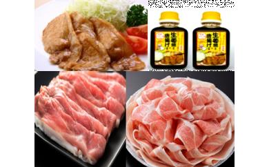 【A05005】鹿児島県産豚スライス約1.5kgセット&うまみたっぷり生姜焼きのタレ