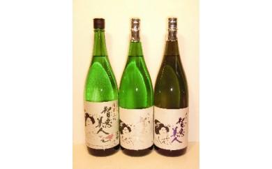 B-30 中野酒造 清酒「智恵美人」1800ml 上撰・純米酒・純米吟醸酒 飲みくらべ3本セット
