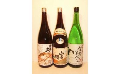 B-31 杵築の清酒「智恵美人・貴運久・山香桜」1800ml 飲みくらべ3本セット