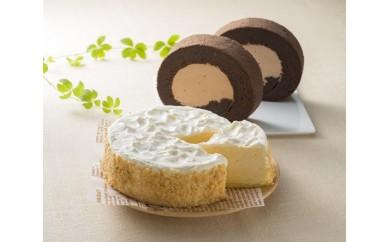 RK151 高原安瀬平乳業のチーズケーキ&ロールケーキセット【1.5P】