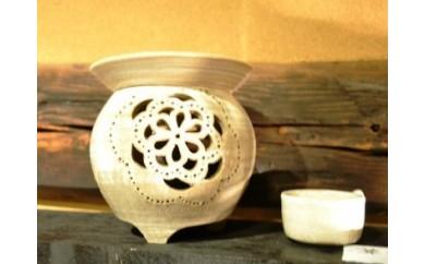 ⑧武雄古唐津焼の名陶 亀翁窯 茶香炉
