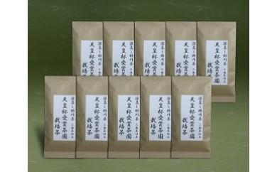 80 天皇杯受賞 茶園栽培茶 100g×10袋