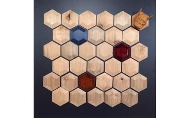 C15 木のタイルArtパネル(六角タイプ)