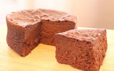 [№5838-0042]2種類のすふれケーキ (スフレフロマージュ・スフレショコラ)