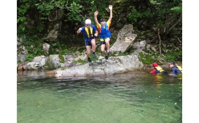 B69 パスカル清見オートキャンプ場1泊宿泊と清流での魚つかみ・川遊び体験