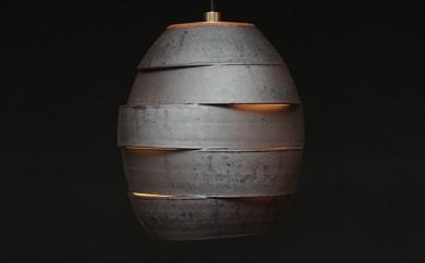 [№5838-0045]陶器照明 ペンダントランプ 「繭 MAYU」ライティングレール方式