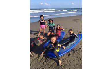 親子でサーフィン体験
