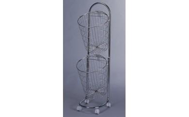 1802065 ランドリーバスケット2段(キャスター付)