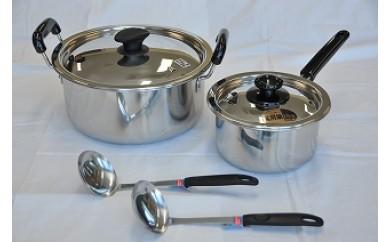 1802043 MTN プロ煮込鍋&片手鍋セット(お玉2本付)