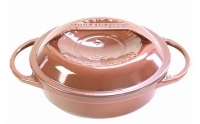 1707010 リロンデル ステンレス鋳物ホーロー鍋『色選択』 浅型22cm (ピンク)