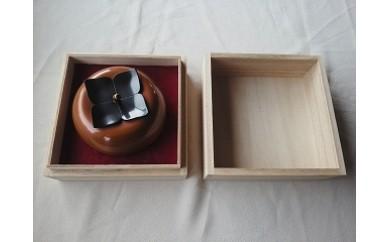 1702002 銅の茶入れ/大地の実り・柿(桐箱付)