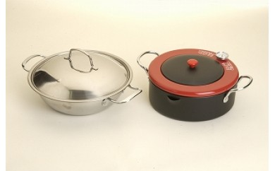 1801082 卓上鍋&温度計付天ぷら鍋セット