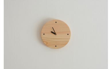 C-020 対馬ヒノキの丸時計