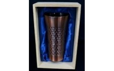 1701036 銅製タンブラー 槌目アンティーク仕上げ(木箱付)