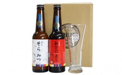 [№5825-0115]クラフトビール紅白セット+専用グラスセット