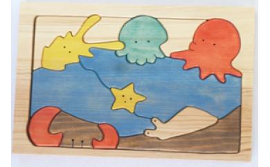 069 手づくりパズルシリーズ 海の仲間たち(くらげ)