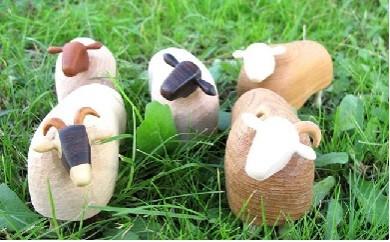 羊のメモスタンド(羊がいっぴき、にひき…の5頭セット)