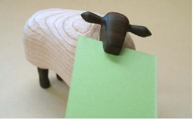 羊のメモスタンド・サフォーク