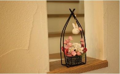 繭花(シルクフラワー)プチうさぎと春の調べ