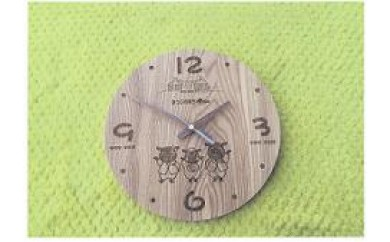 B253 さほっちファミリーの掛け時計