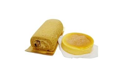 【那須御養卵】人気の半熟ふわとろチーズケーキと五峰もちもちロールセット