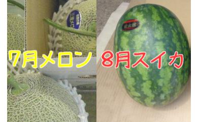 2-3【三浦農家直送】メロンとスイカ夏の贅沢セット